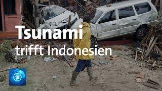 Tsunami: Tote und Verletzte in Indonesien