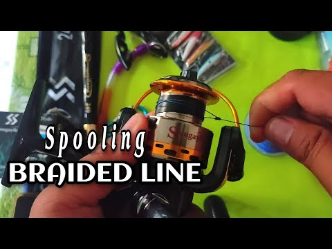 How To Spool A Spinning Reel / For Beginners