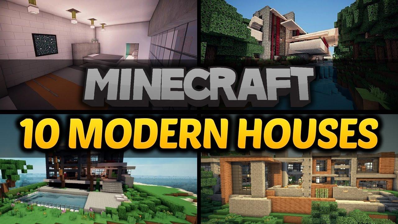 10 Minecraft Modern Houses - Amazing Minecraft Builds