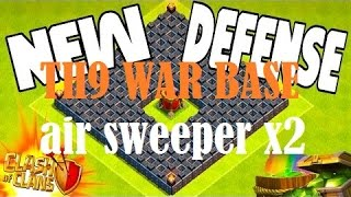 Clash of clans - Best Th9 war base with 2 air sweepers Anti 3star New Update + speed build