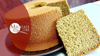 Matcha Cream Cheese Chiffon Cake