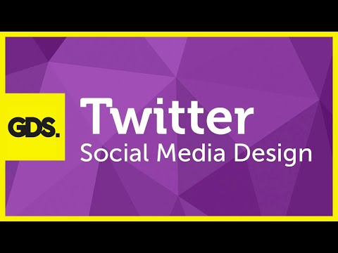 Twitter social media design in Photoshop