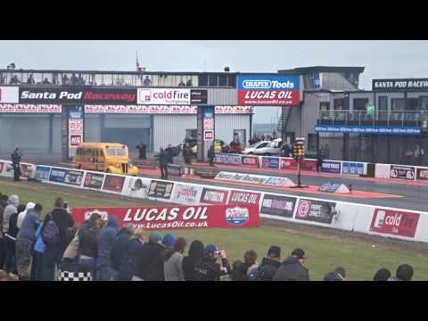 Jet School Bus at at Santa Pod Raceway!