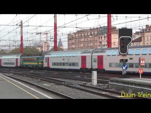 HLE 27 56 en 27 52 met M6 komt aan in Brussel Zuid