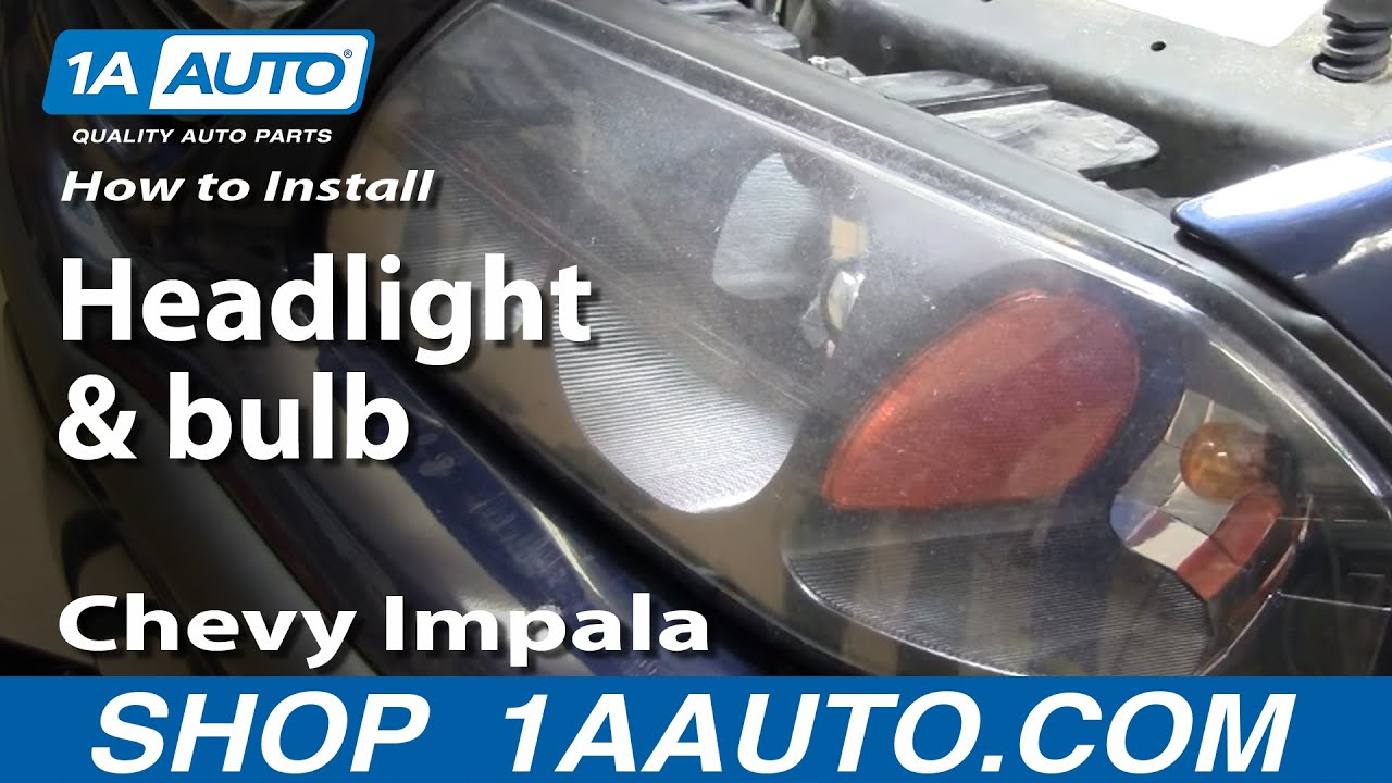 How To Install Replace Headlight And Bulb Chevy Impala 00 05 1aautocom Headlights Diagram Youtube