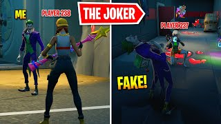 I Pretended To Be BOSS Joker In Fortnite
