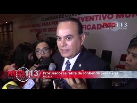 VIDEO Procurador de Michoacán se retira de la contienda para fiscal del estado