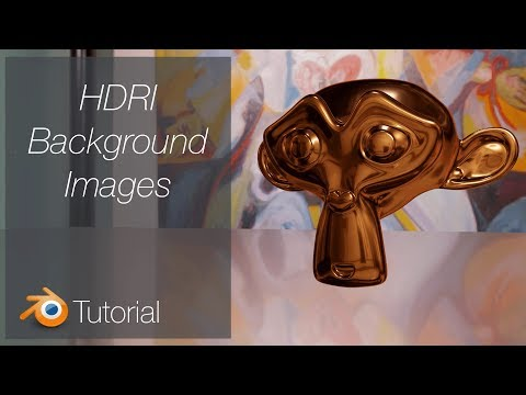 [2.8] Blender Tutorial: Quick Background Images, HDRI