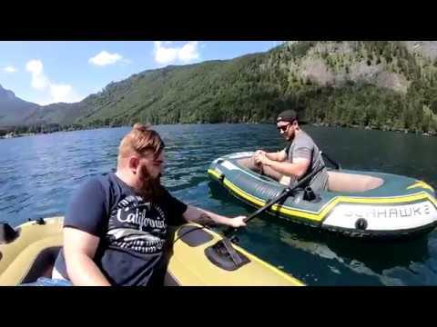 Schlauchbootfahrt am Langbathsee - GoPro Actioncam - Urlaub im Salzkammergut