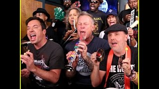 Metallica The Roots and Jimmy Kimmel play Enter Sandman on classroom instruments