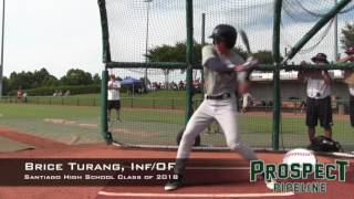 Brice Turang Prospect Video, OF_INF, Santiago High School Class of 2018 #TOS16