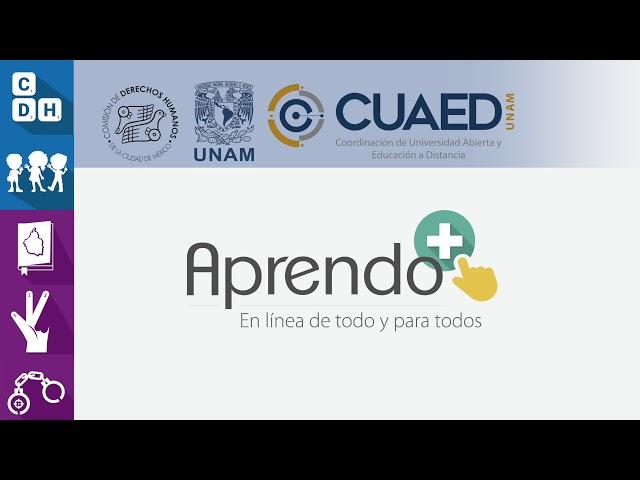 Cursos en línea CDHCM - CUAED UNAM
