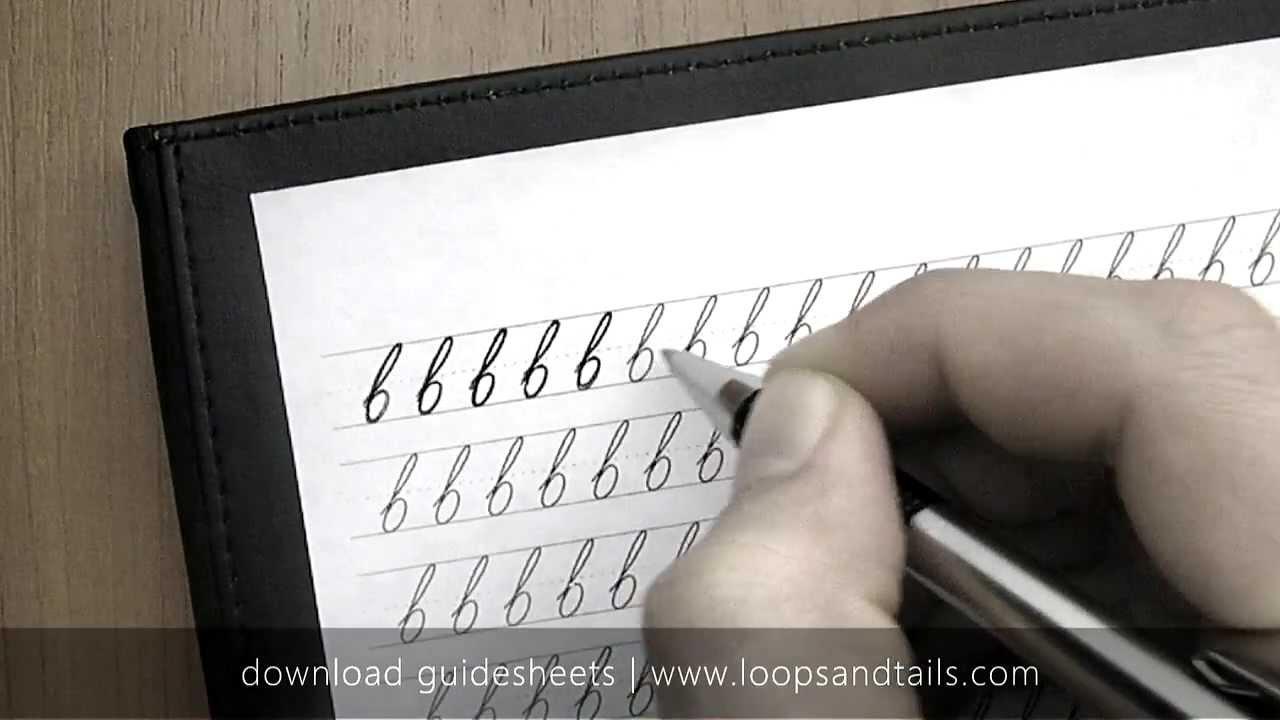 Worksheet How To Write A Cursive B Lowercase learn cursive handwriting lowercase b youtube b