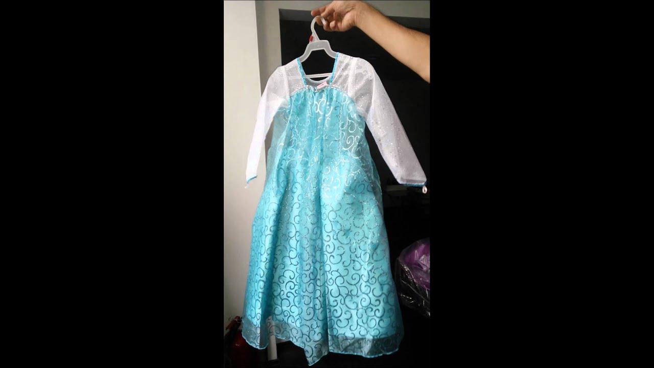 Vestido Frozen Elsa Para Niña T 2 A T8 Youtube