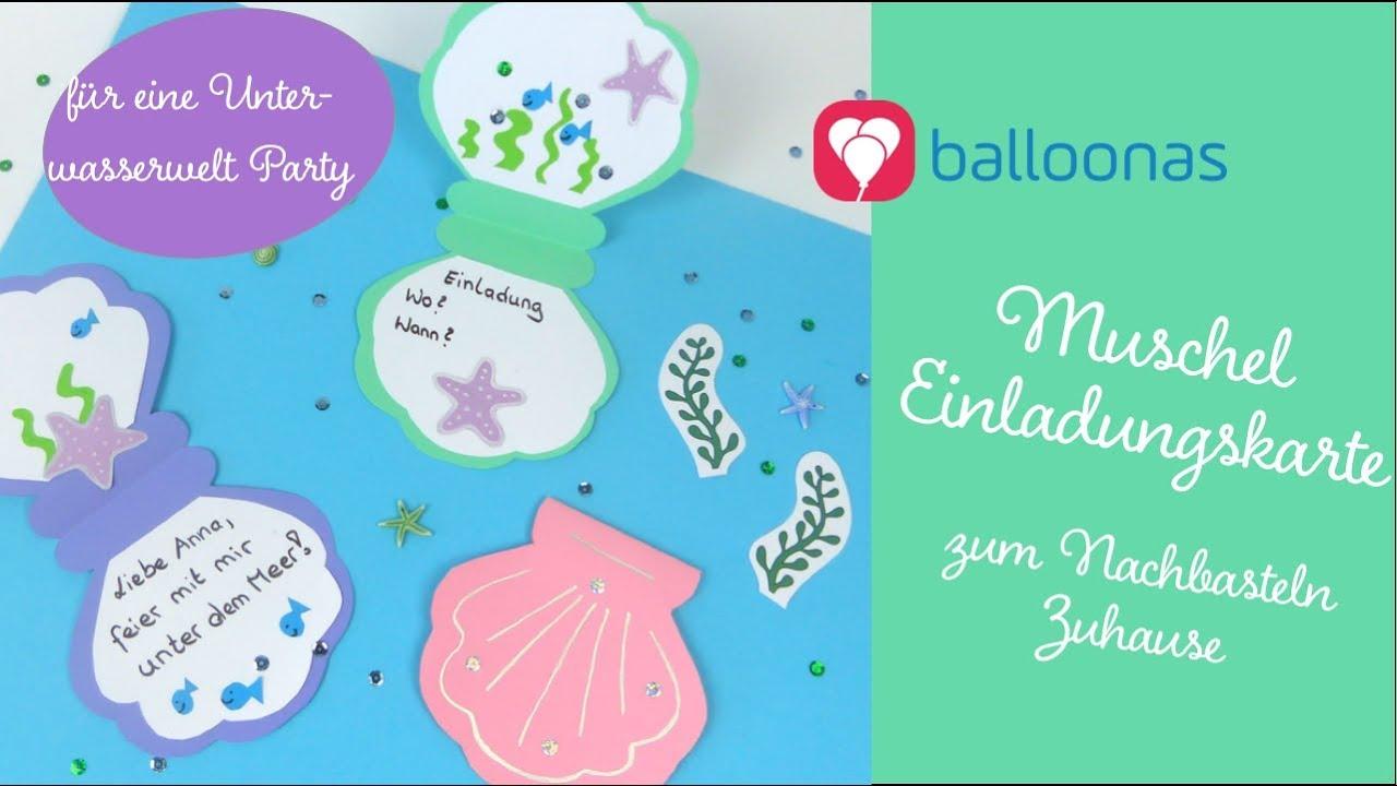 So Kannst Du Eine Diy Muschel Einladung Basteln Balloonasblog