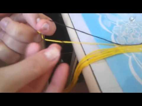 Как правильно плести фенечку прямым плетением по схеме