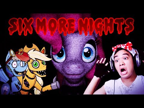 RAINBOWDASH CALM DOWN!! | Six Nights At Pinkie's (1st & 2nd Night)