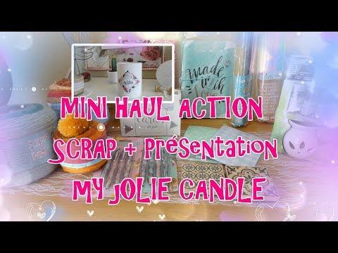 HAUL ACTION Nov. 2018 + Présentation de MY JOLIE CANDLE Une  idée cadeau de Noël