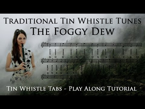 Traditional Tunes - The Foggy Dew Tin Whistle Tutorial - Play Along Tabs