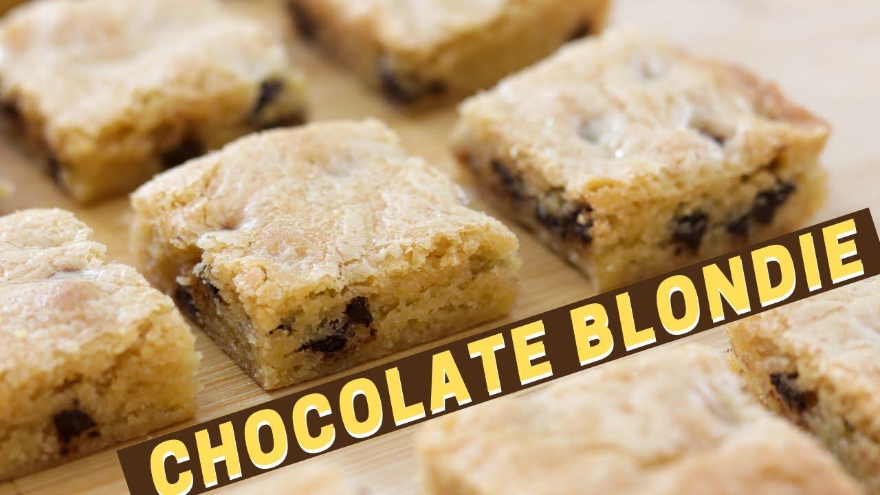 Chocolate Blondies Recipe |  How to Make Blondies