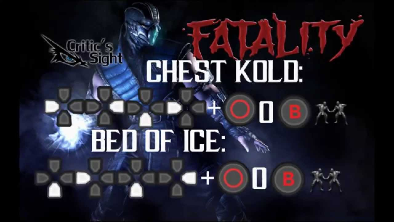 mortal kombat x sub zero fatalities ps4