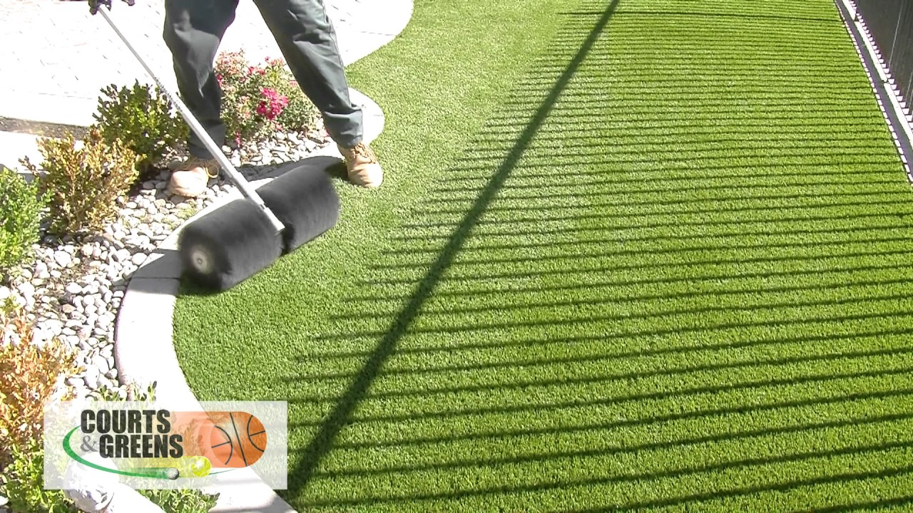 How To Use A Power Broom For Artificial Fake Grass Turf