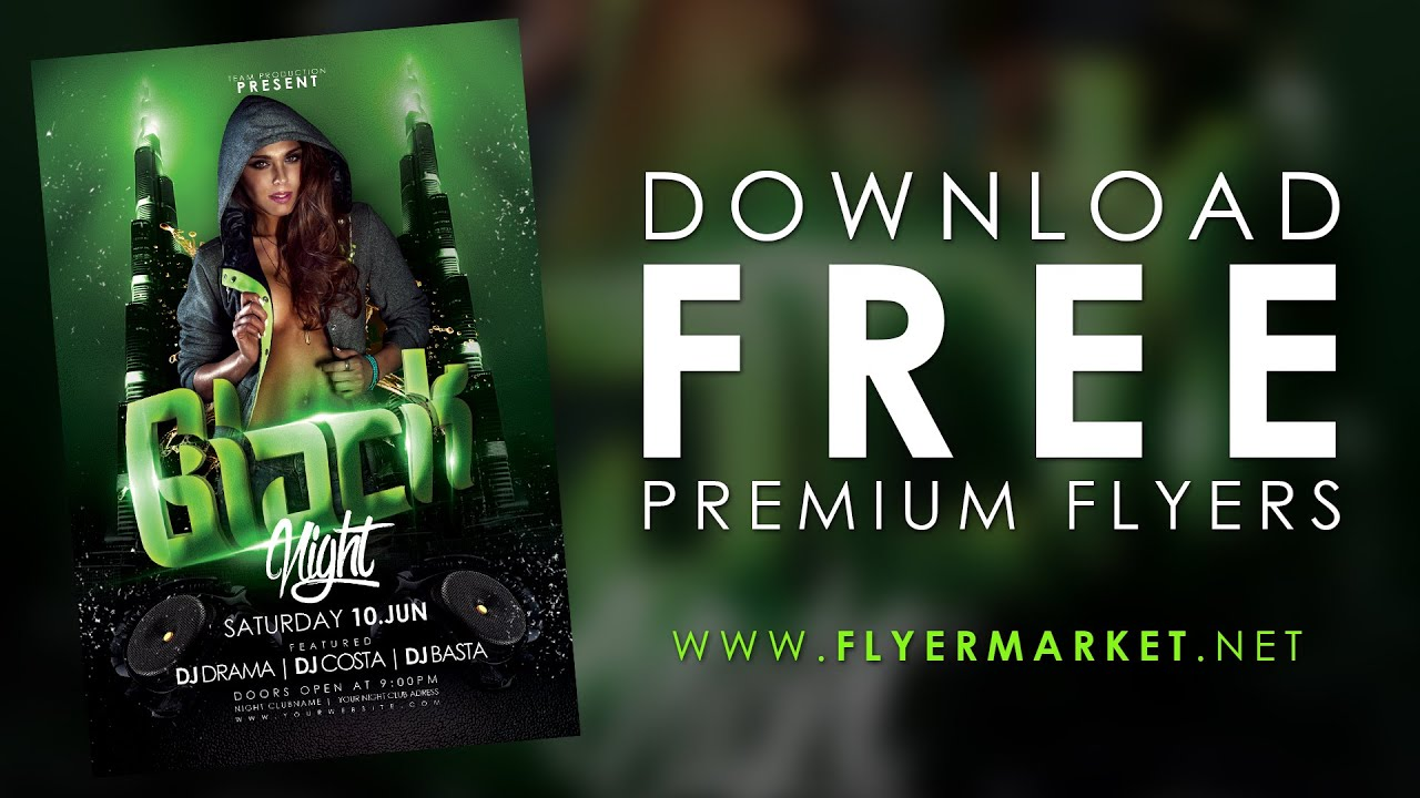 FREE Flyer Templates   YouTube  Advertising Flyer Templates Free