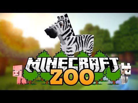 Das Zebragehege   Wie baut man einen Zoo in Minecraft deutsch   Minecraft Zoo bauen deutsch