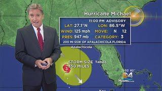 Tracking Hurricane Michael 10-9-18 11PM