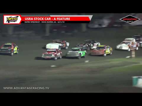 Stock Car Feature - Rapid Speedway - 6/21/19