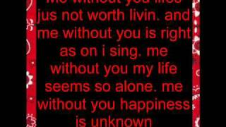 Me Without you-Cisko and Jessica ( lyrics )