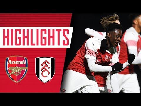 HIGHLIGHTS   Arsenal 4 - 0 Fulham U-18s