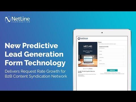 NetLine Corporation Releases New Predictive Lead Generation Form Technology
