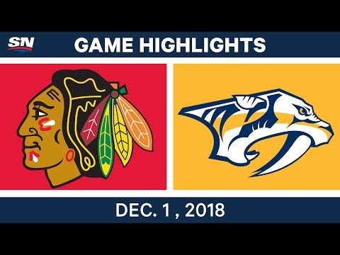 NHL Highlights | Blackhawks vs. Predators - Dec 1, 2018