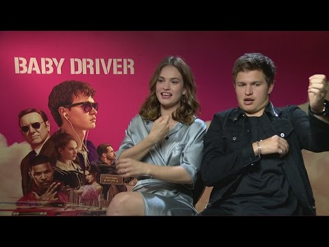 Baby Driver: Ansel Elgort crushes on Lily James