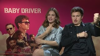 Baby Driver Ansel Elgort crushes on Lily James