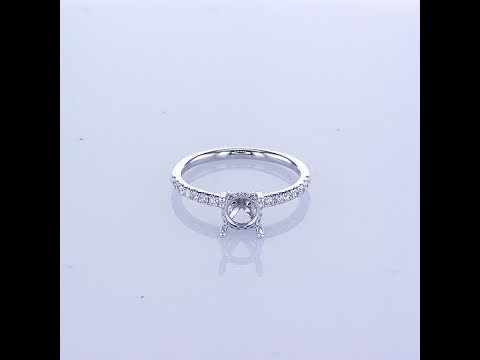 0.35ct 18KT WHITE GOLD PAVE DIAMOND SETTING WITH DIAMONDS ON THE BASKET