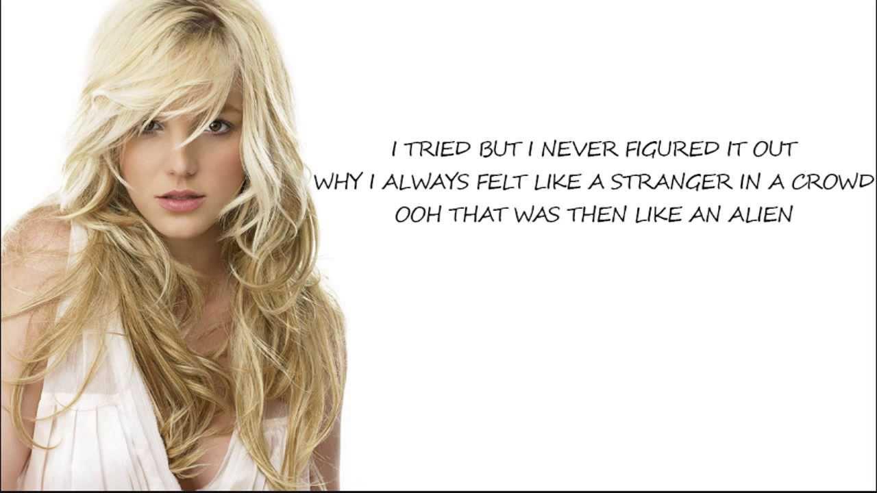 Britney Spears - Alien (Lyric Video) - YouTube