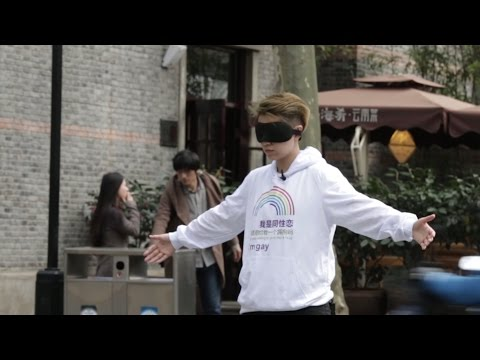 Social Experiment in China -- 'I'm gay, would you hug me'  | Rela