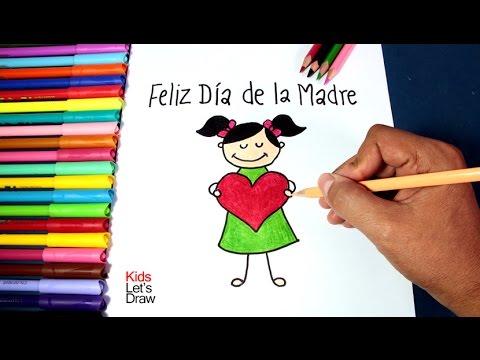 Como Hacer Un Dibujo Simple Para Mama Feliz Dia De La Madre