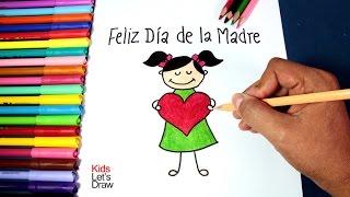 Cómo hacer un dibujo simple para Mamá (Feliz Día de la Madre) | How to Make an Easy Drawing for Mom