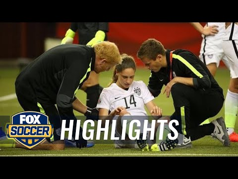 Brian, Popp get into ugly head collision  FIFA Women's World Cup 2015 Highlights