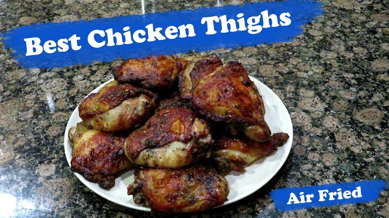 Power Airfryer Oven Bone In Chicken Thighs Youtube