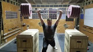 220kg/485lb Jerk at 107kg/235lb Bodyweight