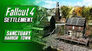 Sanctuary Harbor Town - Fallout 4 Mods - Sanctuary Overhaul GreekRage - Fallout 4 Settlement Build