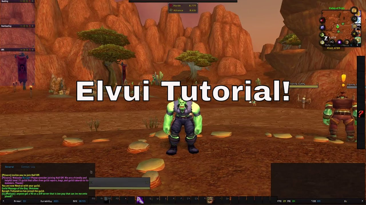 Elv UI and Other addons! World of Warcraft Legion! 7 1