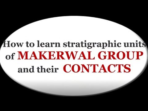 How to learn stratigraphic units of makerwal group and their contacts