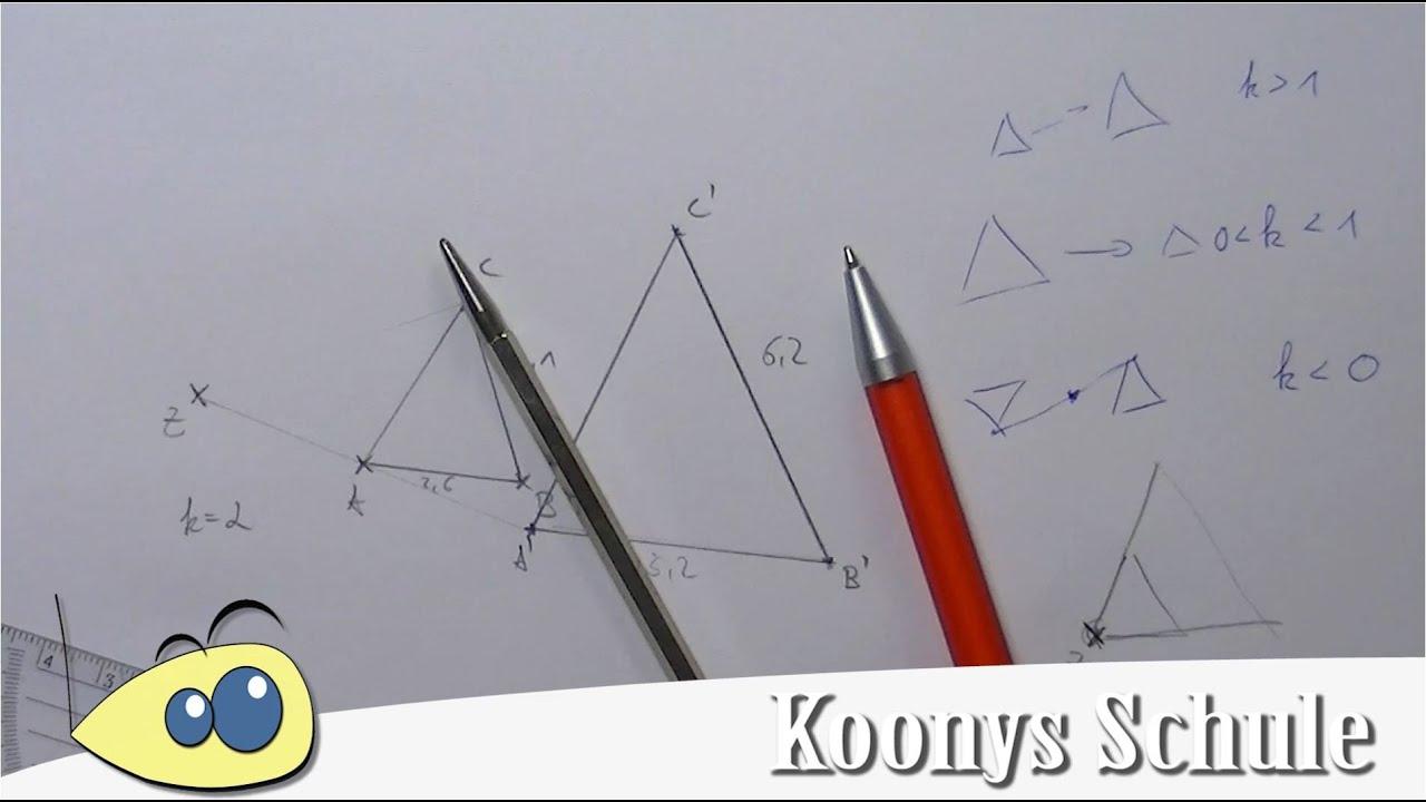 zentrische Streckung | Beispiel, Erklärung, Geometrie, Mathe - YouTube