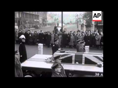 Funeral of Lord Trenchard - 1956