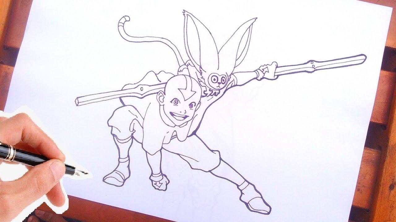 Como Desenhar O Avatar A Lenda De Aang Youtube